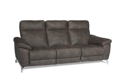 Stílusos 3-személyes kanapé Abeeku - barna