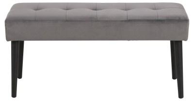 Dizajnová lavička Neola, tmavo šedá