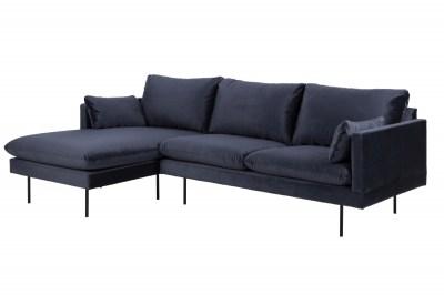 Stílusos ülőgarnitúra Nanjala 242 cm balos - sötétkék