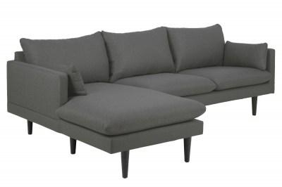 Stílusos ülőgarnitúra Nanjala 242 cm balos - sötétszürke