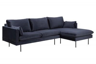 Stílusos ülőgarnitúra Nanjala 242 cm jobbos - sötétkék