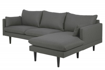 Stílusos ülőgarnitúra Nanjala 242 cm jobbos - sötétszürke