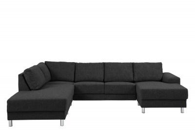 Stílusos ülőgarnitúra Nim antracit 286 cm L