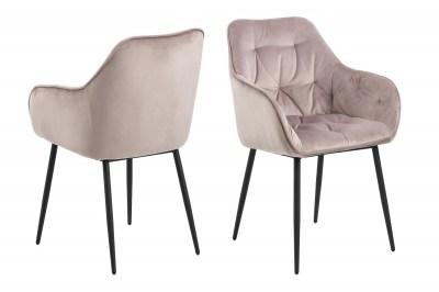 Stílusos szék Alarik - hamu rózsaszín