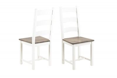 Ízléses szék Alexio - fehér / barna