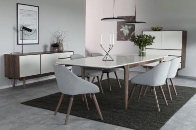 Dizajnová stolička Almeisan, svetlosivá