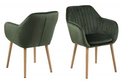 Stílusos szék Nashira - erdei zöld VIC