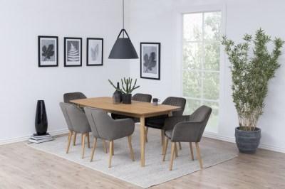 Stílusos szék Nashira - sötétszürke VIC