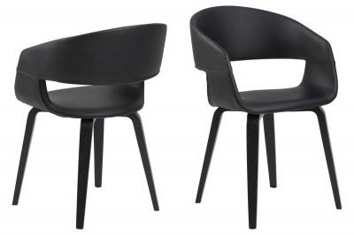 Ízléses szék Nere - fekete / nyírfa