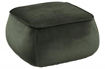 Stílusos puff Nara - sötétzöld kocka