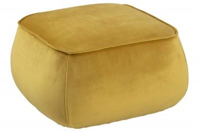 Stílusos puff Nara sárga - kocka