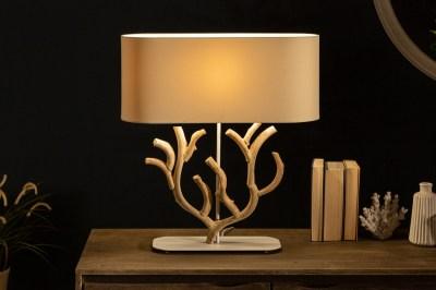 Design asztali lámpa Maleah 58 cm bézs - akác