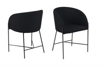 Ízléses fotel Alliser - fekete