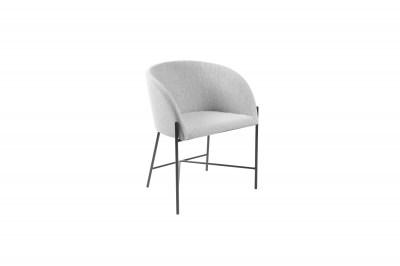 Ízléses fotel Alliser világos szürke / fekete