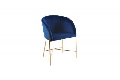 Ízléses fotel Alliser sötétkék / arany