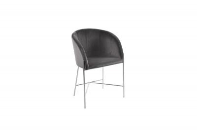 Ízléses fotel Alliser sötétszürke / krómozott