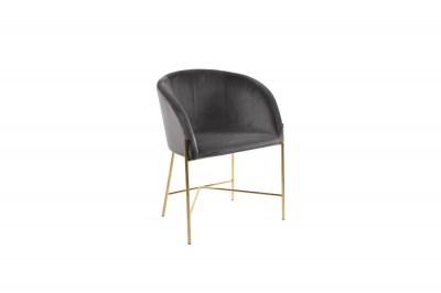 Ízléses fotel Alliser sötétszürke / arany