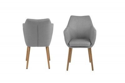 Stílusos fotel Almond II - világos szürke