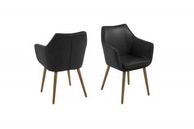 Ízléses fotel Almond - fekete