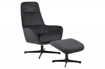 Stílusos relax fotel Nansi - sötétszürke