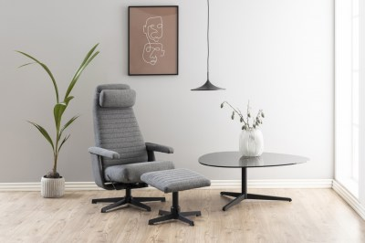 Stílusos relax fotel Nantale - sötétszürke