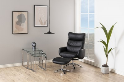Stílusos relax fotel Naoise - fekete
