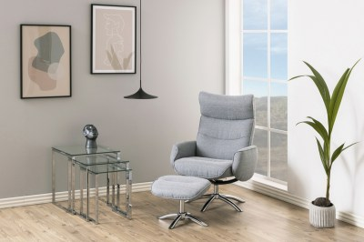 Stílusos relax fotel Naoise - világos szürke