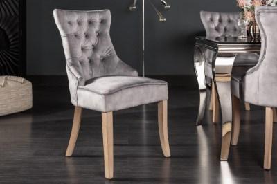 Design szék Queen szürke bársony