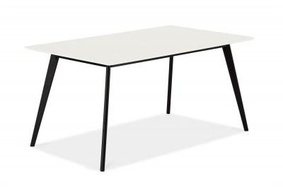 Stílusos étkezőasztal Aaden fehér / fekete