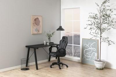 Stílusos íróasztal Narges 125 cm - fekete üveg