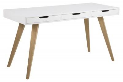 Stílusos íróasztal Natalya 141 cm - fehér