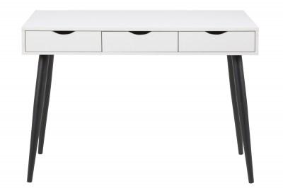 Stílusos íróasztal Nature 110 cm fehér-fekete