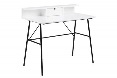 Stílusos íróasztal Nava 100 cm - fehér