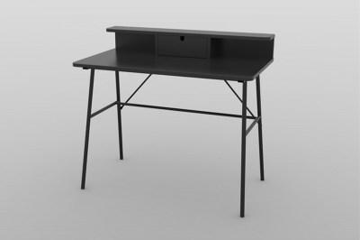 Stílusos íróasztal Nava 100 cm - fekete