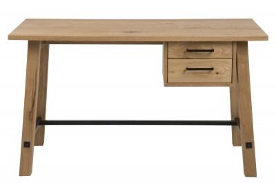 Stílusos íróasztal Nayana 130 cm - csiszolt vad tölgy