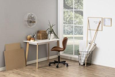 Stílusos íróasztal Niecy 117 cm - fehér