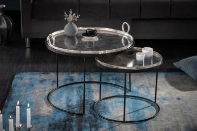 Dohányzóasztal szett Khalil ezüst - 2 részes