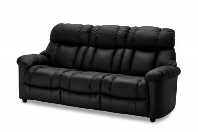 Elegáns 3-személyes fotel Adrastos fekete