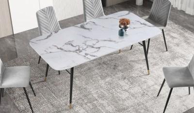 Étkezőasztal Laney 180 cm márvány fehér