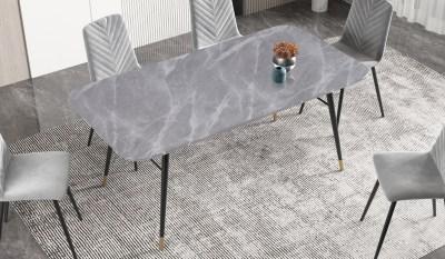 Étkezőasztal Laney 180 cm márvány szürke