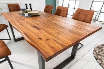 Étkezőasztal masszív akácfából Evolution 160 cm Antracit