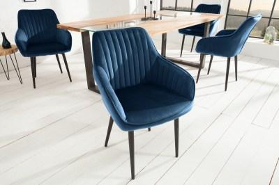 Stílusos szék Esmeralda király kék