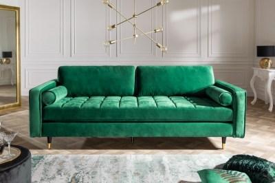 Stílusos ülőgarnitúra Adan - zöld bársony