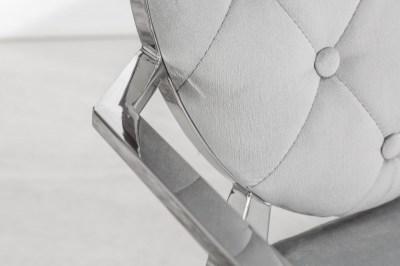 Stílusos szék Rococo szürke kéztámlával