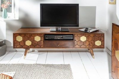 Stílusos TV asztal Justice 140 cm akácia fa