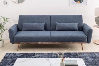 Ágyazható ülőgarnitúra Blaine 208 cm kék