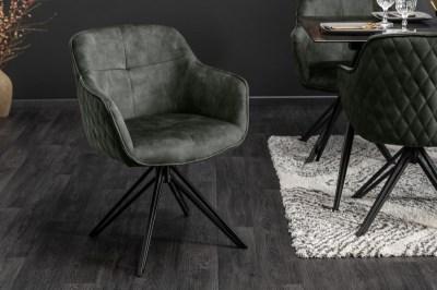 Stílusos szék Natasha sötétzöld bársony