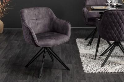 Stílusos szék Natasha sötétszürkebársony
