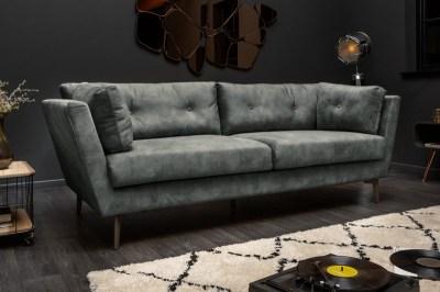 Stílusos ülőgarnitúra Billy 220 cm sötétzöld bársony