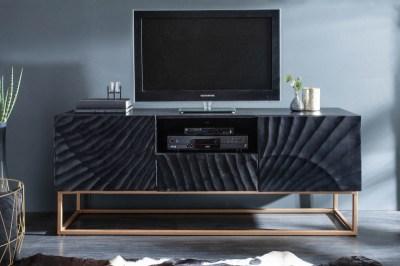 Stílusos TV asztal Shayla 160 cm fekete - mangó
